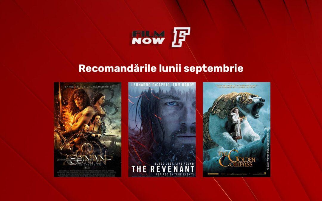 În septembrie, Film Now dedică cea de-a patra săptămână producțiilor de aventură