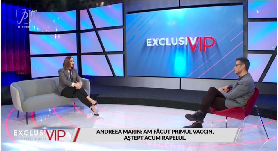 Andreea Marin, despre reacțiile adverse după vaccinul Astra Zeneca și cum a locuit în casă cu un testat pozitiv cu COVID