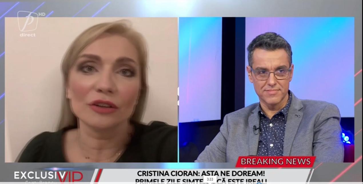 Cristina Cioran, a ramas gravidă natural la 43 de ani