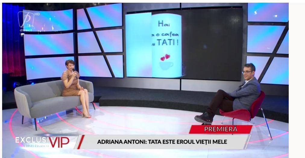 Adriana Antoni si-a aratat in premiera tatal la televizor