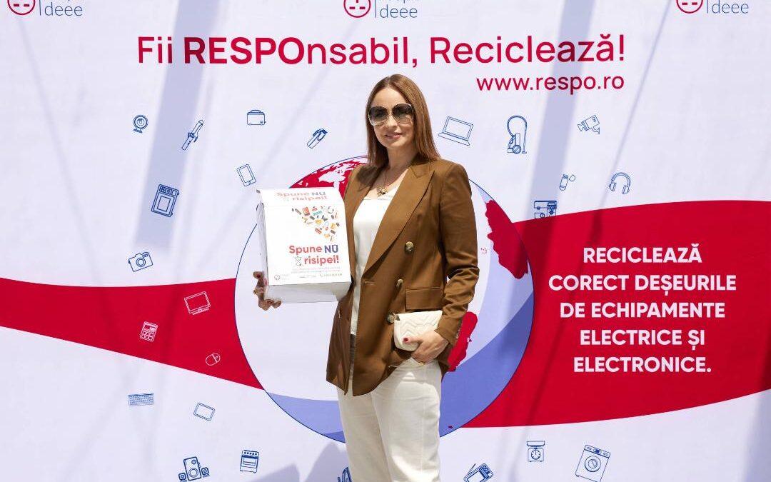 Vedetele au adus de acasă electronice și electrocasnice pentru reciclare, în cutii RESPO