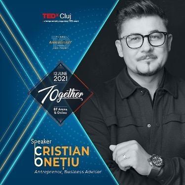Cristian Onețiu, prima dată pe scena TEDxCluj, în ediția aniversară de 10 ani