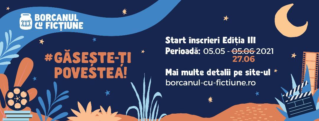Organizatorii taberei de creație, Borcanul cu Ficțiune, anunță prelungirea etapei de înscriere până pe 27 iunie