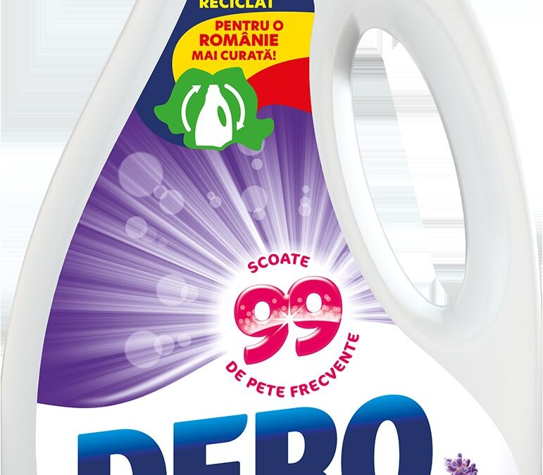 Unilever introduce pe piață sticla eco-friendly pentru detergentul lichid DERO. Sticla este realizată din plastic reciclat și este 100% reciclabilă