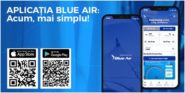 Blue Air lansează aplicația mobilă pentru a oferi o experiență digitală performantă