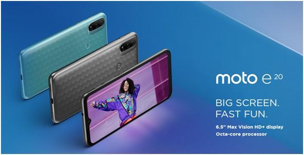Motorola adaugă un nou smartphone în familia de produse moto e. Noul moto e20 duce experiența divertismentului la un alt nivel