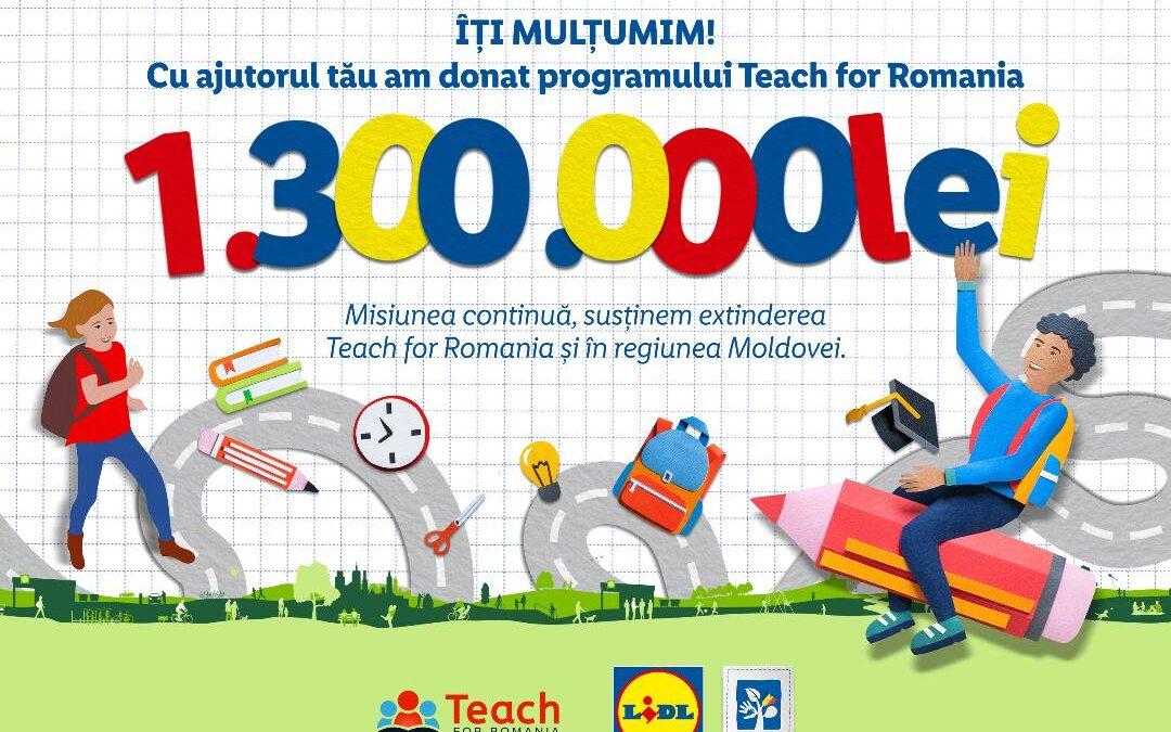 Lidl Romania investește 1.300.000 lei în programul Teach for Romania